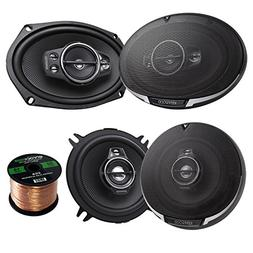 Car Speaker Package Of 2x Kenwood KFC-6995PS 1300-Watt 6x9""