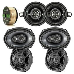 3 Pair Car Speaker Package Of 2x Kicker CSC354 180-Watt 3.5""