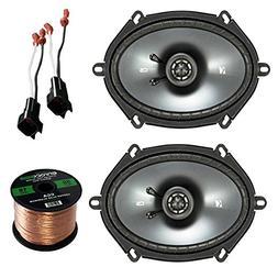 "Car Speaker Set Combo Of 2 Kicker 6x8"" Inch 450W 2-Way Car C"