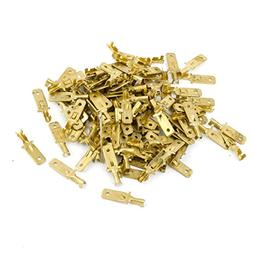 100pcs Car 4.8mm Speaker Spade Male Terminal Cable Connector