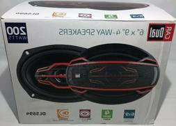 Dual Electronics Car Speakers 4 Way 6 x 9 Inch 200 Watt Powe