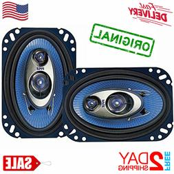 "✅ Car Speakers 4"" X 6"" 240 Watt 3 Way Full Loud Range Auto"