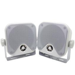 "2Pcs 3"" Car Speakers Marine Audio Player Boat Compact Motorc"
