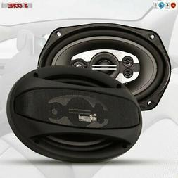"Car Stereo Audio Speaker Full Range COAXIAL 6'' X 9"" Pair 16"