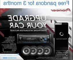 Pioneer Car Stereo Bundle MVH-S3166BT Digital Media Receiver