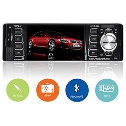 Car Stereo,Single Din Car Radio,4.1 inch Screen Bluetooth Ca