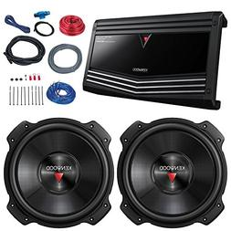 Car Sub And Amp Combo: 2x Kenwood KFC-W3016PS 2000 Watt 12""