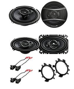"Pioneer 6.5"" CAR Truck Stereo Front & Rear Door Speakers W/M"