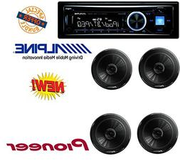 Alpine Advanced Bluetooth CD Receiver W/ 4 Pioneer TSG1645R