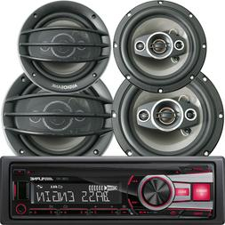 ALPINE CDE-151E SINGLE DIN CAR STEREO CD  PLAYER USB AUX + 4