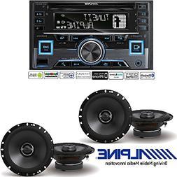 Alpine CDE-W265BT, Double DIN CD Car Stereo w/Bluetooth, USB