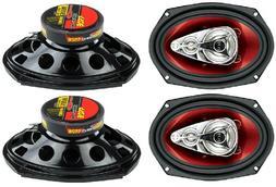 "New BOSS Chaos CH6940 6x9"" 500W 4-Way Car Coaxial Audio Ster"