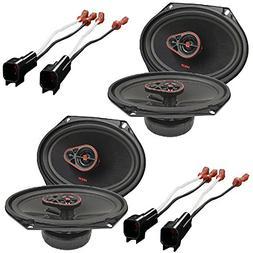 3-Way Coaxial Speakers  W/  Speaker Connector Harness Adapt