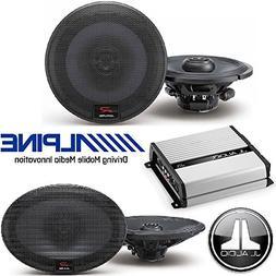 """Alpine 6.5 inch 300W Component 2-Way Car Speakers 6""""X9"""" 300W"""