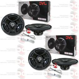 "4 x NEW JVC 6.5-INCH 6-1/2"" CAR AUDIO 2-WAY COAX SPEAKERS"