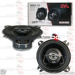 """JVC CS-J420X 4"""" CAR AUDIO 2-WAY COAX COAXIAL SPEAKERS"""