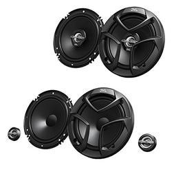 "JVC CS-J620 300W 6.5"" CS 2-Way Coaxial Car Speakers  with JV"
