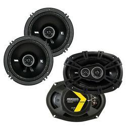 Kicker D-Series 360W 3 Way Speakers with 240W 2 Way Car Audi
