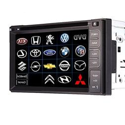 In-dash Double-din LCD Touch Screen Car Audio with Bluetooth