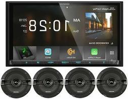 "Kenwood DDX9705S 6.95"" GPS DVD Bluetooth Receiver+ 6.5"" Kick"