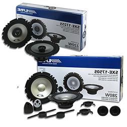 """Alpine Package Deal 6.5-inch 6-1/2"""" 2-way car component syst"""