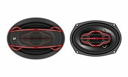 Dual Electronics DLS694 4-Way 6 x 9 inch Car Speakers with 2