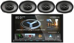 "Kenwood DNX875S 6.95"" Navigation DVD Bluetooth Receiver+ Kic"