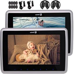 """1 Pair Double 9"""" Car Headrest DVD Player with HD LCD Digital"""