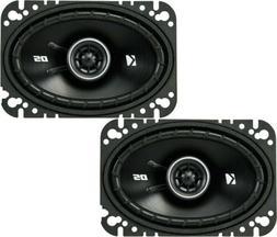 """Kicker DS Series 4""""x6"""" 2-Way Car Speakers  w/ 120 Watts Max."""