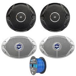 """2x JBL 6.5"""" 150 Watts Dual Cone Boat Speakers - Black, JBL 6"""