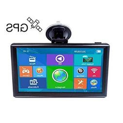 E-ACE GPS Navigation for Car 7 Inch Touch Screen 8GB Vehicle