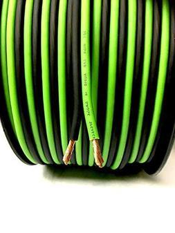 200' feet True 12 Gauge AWG OFC Speaker Wire Green/Black Car