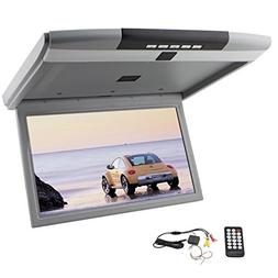 """15"""" Flip Down Monitor for Cars Roof Mount Display with HD Di"""