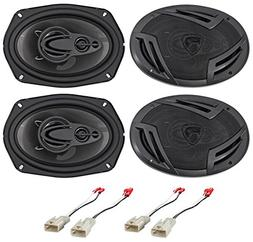 """Rockville 6x9"""" Front+Rear Factory Speaker Replacement For 20"""