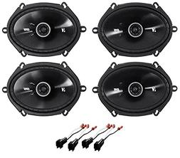 """Kicker 6x8"""" Front+Rear Factory Speaker Replacement Kit For 2"""