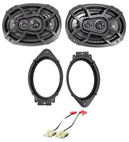 "Kicker 6x9"" Front Speaker Replacement Kit For 2015-2017 GMC"