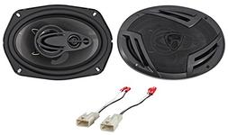 "Rockville 6x9"" Front Factory Speaker Replacement Kit For 200"
