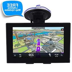 GPS Navigation for Car, 5 Inch Touch Screen Voice Reminding