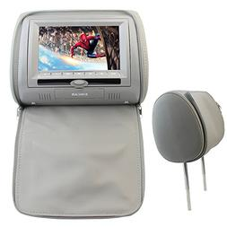 EinCar Gray Color Pair of Headrest 7 inch LCD Car Pillow Mon