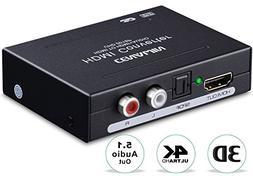 4K HDMI Audio Extractor, Cenawin HDMI to HDMI Audio Splitter