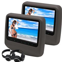 2x Headphones EinCar 9'' Twin Screen DVD Player Portable Car