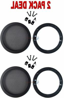"""2 PCS 4.5"""" INCH CAR SPEAKER WOOFER STEEL MESH GRILL WITH SPE"""