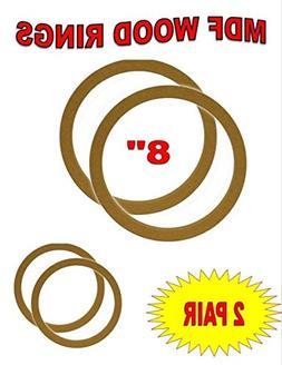 """8"""" INCH SPEAKER MOUNTING SPACER RINGS FOR FIBERGLASS 2 PAIR"""