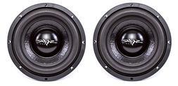 "NEW SKAR AUDIO IX-8 D4 8"" 300W MAX POWER DUAL 4 SUBWOOFERS"