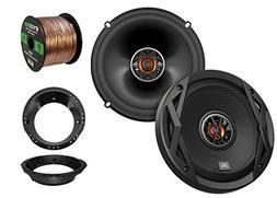 """2x JBL 6.5"""" Club Series 2-Way Car Audio Speakers, with 2x En"""