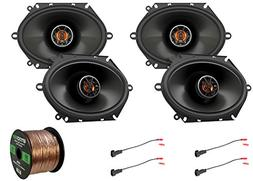 4X JBL 6x8 2-Way Coaxial Club Series Speakers, with 4X Enroc