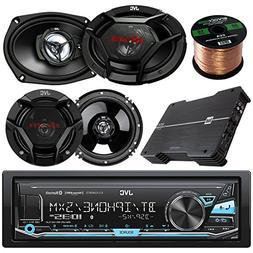 JVC KD-X330BTS AM/FM USB AUX Car Stereo Receiver Bundle Comb