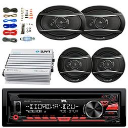 JVC KDR480 Car Radio USB AUX CD Player Receiver - Bundle Wit