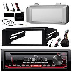 JVC KDR490 Radio USB AUX CD Player Receiver W/ Cover - Bundl