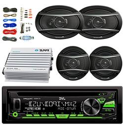 JVC KDR680S Car Radio USB AUX CD Player Receiver - Bundle Wi